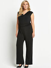 LOVEDROBE COWL NECK BLACK JUMPSUIT SIZE 18 NWT SOLD THROUGH ASOS EVANS SIMPLY BE