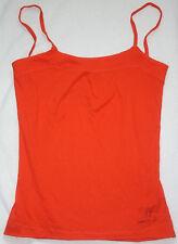 Women's DIESEL 47 Fighter Grp. Orange Cami Tank Top 100% Cotton Shirt Size S