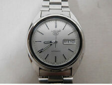 Vintage Mens SEIKO 5 Automatic Watch 7S26-3040. Works Well from JAPAN