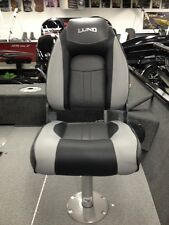 2014-2015 Lund Standard Seat - New - Grey & Black - Fishing Boat Seat