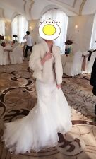 Rare New Ivory / White Mink Fur Jacket Coat perfect for wedding