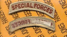 US ARMY SPECIAL FORCES Desert DCU TAB patch m/e