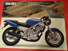 1990 Honda CB400 F - CB-1 - Motorcycle Sales Brochure - Literature