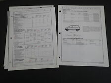 1987 FORD MUSTANG THUNDERBIRD TAURUS ESCORT COLOR AND TRIM DEALER ALBUM SHEETS