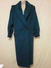 Ashley Scott Full Length 100% Wool Winter Coat Emerald Green Made in USA