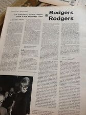 N1-8 Ephemera 1962 Article Richard Rogers Composer 2 Pages