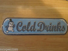 COLD DRINKS Chilly Willy FOOD DELI RESTAURANT VENDOR CONCESSION Metal Sign