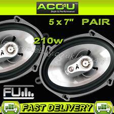 """FLI Audio Integrator 57 5""""x 7"""" 5 x 7 inch 210w Car Door Coaxial Speakers Set"""