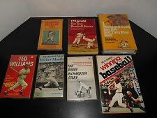 Vintage Baseball Book Lot Ted Williams Mickey Mantle Pete Rose Stars Of 1975