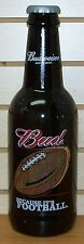 BUDWEISER - 2001 - BECAUSE IT'S FOOTBALL - KING PITCHER - LARGE GLASS BOTTLE