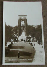 Old Clifton Suspension Bridge Real Photo Postcard - Bristol Avon / Somerset