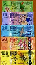 SET, FIJI, 5;10;20;50;100 dollars, 2012 (2013), P-New,  UNC   New Design