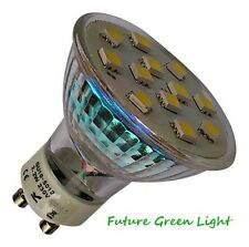 GU10 12 SMD LED 240V 2.2W 150LM WARM WHITE BULB ~35W