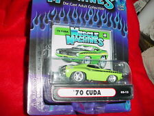 MUSCLE MACHINES '70 CUDA 02-12 MOPAR GREEN MIP FREE USA SHIP