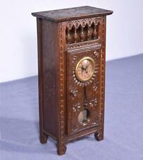 French Antique Minature Breton/Brittany Grandfather Clock in Chestnut