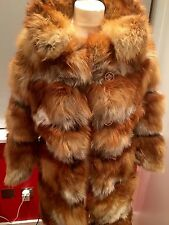 Real Fur Read Fox Coat