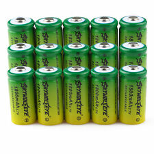 20pcs SKYWOLFEYE 16340 CR123A LR123A 3.7V 1800mAh Rechargeable Li-Ion Battery