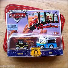 Disney PIXAR World of Cars MINI ADVENTURES Radiator Springs LIZZIE & RED 2-pack