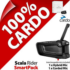 New Cardo Scala Rider SmartPack Bluetooth Motorcycle Helmet Intercom Headset