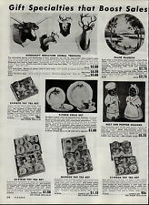 1951 PAPER AD Black Negro Mammy Chef Salt and Papper Shakers Toy Tea Set