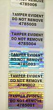 100 TEDNR Numbered Security Hologram Tamper Evident Labels Sticker Seals
