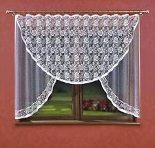 LARGE Jacquard-Bianco Net Curtain 300x150 pronte
