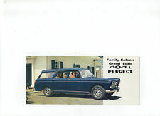 1966 Peugeot 404 Estate Car/Family-Saloon/Commercial Limousine leaflet