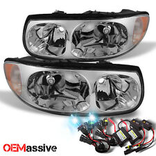 00-05 Buick LeSabre Replacement Headlights +Slim Ballast 8000K Blue White HID