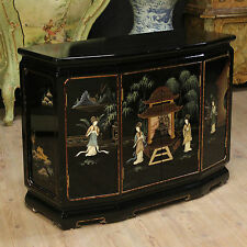 CREDENZA FRANCESE MOBILE CHINOISERIE LACCATO E DIPINTO ANNI '80 SIDEBOARD BUFFET