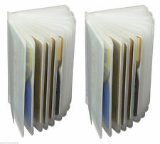 2 Clear Plastic 6 page Inserts Replacmet Credit Card Holder  Trifold Card case