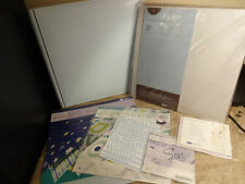 CREATIVE MEMORIES 11 X14 LEATHER ALBUM BABY BOY BRIGHT KIT STICKERS VELLUM LOT