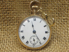A 9CT GOLD SWISS POCKET WATCH