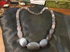 Fabulous Vintage Scottish Banded Agate Long Bead Necklace