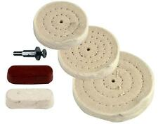 5 Piece Buffing Wheel & Compound Kit  Professional Results Metal Polishing