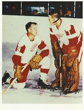 Gordie Howe - Terry Sawchuck -Detroit Red Wings photo 8 x 10 picture