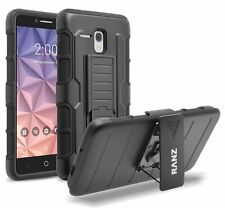 RANZ Alcatel One Touch Fierce XL Impact Armor Hybrid Kickstand & Belt Clip Case