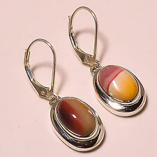 "RED MOOKAITE 925 STERLING SILVER EARRINGS 1.05""'"