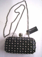 Harley-Davidson Minaudiere Purse With Pewter Color Skulls & Studs, Brand New