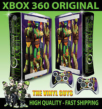 XBOX 360 NICK TOON TORTUES NINJA AUTOCOLLANT HOUSSE & 2 PAD STICKERS