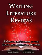 Writing Literature Reviews: A Guide for Students of the Social and Behavioral...