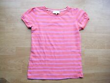 M&S New T-shirt 12 yrs Hooped  Coral Mix