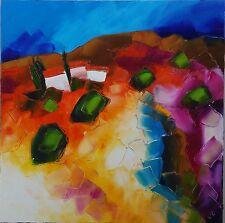 Tableau Original de S!C 60 x 60 cm abstrait provence peinture toile huile art