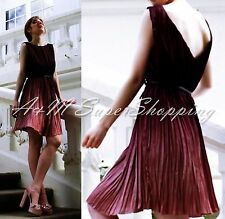 ZARA PLEATED OMBRE MIDI DRESS SIZE  MEDIUM M 10 UK 38 EU 6 US
