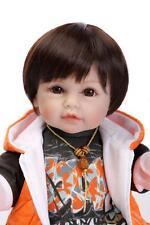 Kids Gift Baby Doll Reborn Vinyl Newborn Boy Nursery Realistic Kids Pretend Play