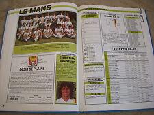 FOOTBALL COUPURE LIVRE PHOTO MRBT24 20x10 D2 GrA LE MANS UC 72 1988/1989