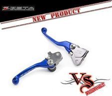 Zeta Pivot Brake & Clutch Lever Set BLUE Anodised KAWASAKI KX450F 06-12