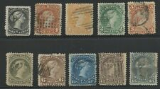 Canada 1868 Large Queen Set complete Sc #21-30 used