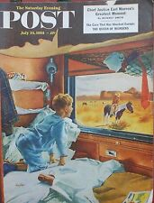 7-25-54 Saturday Evening Post Earl Warren Greatest Moment Puppies For The Blind