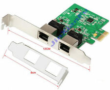 PCI-e 1x to Dual LAN Ports 2x RJ45 1000-Base T Gigabit Ethernet Card