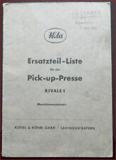 Köla Pick-up Presse Rivale 1 Ersatzteilliste